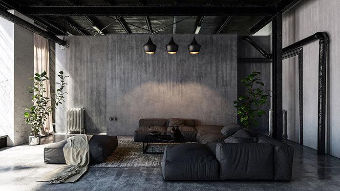 Industrialny styl dekoracji wnętrz